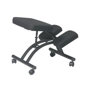 Work Smart™ 28.00-in x 17.00-in Black Ergonomic Knee Chair