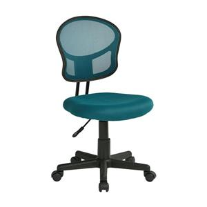 OSP Designs Mesh Office Chair - Adjustable Height - Blue