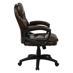 Work Smart™ 22.00-in x 21.25-in Chocolate Faux Leather Chair