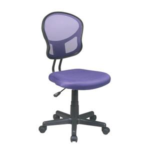 OSP Designs Mesh Office Chair - Adjustable Height - Purple