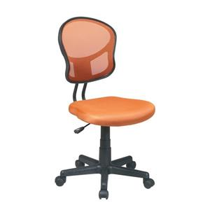 OSP Designs Mesh Office Chair - Adjustable Height - Orange