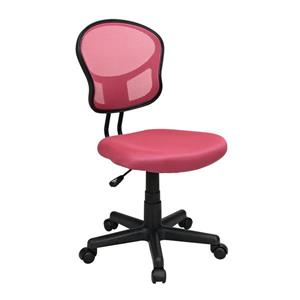 OSP Designs Mesh Office Chair - Adjustable Height - Pink
