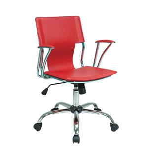 Ave Six Dorado 21.50-in x 17-in Red Office Chair
