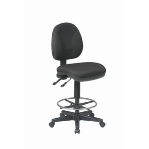 Work Smart™ 26.50-in x 18.50-in Black Ergonomic Drafting Chair