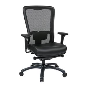 Pro-Line II Black High Back Leather Chair