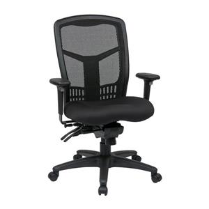 Pro-Line II Black High Back Chair with Adjustable Arms
