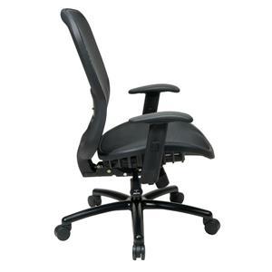 Space Seating® Black Mesh Drafting Chair