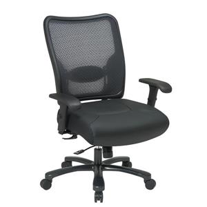 Space Seating® 22.00-In x 22.00-In Black Ergonomic Office Chair