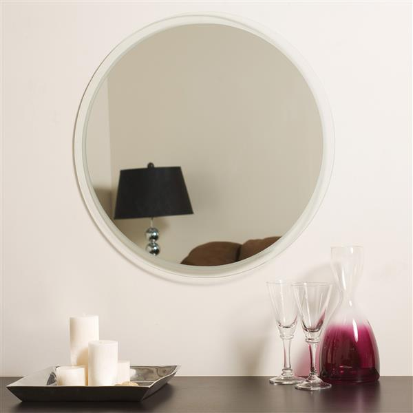 Decor Wonderland Frameless 23 6 In X 23 6 In Round Mirror Lowe S Canada