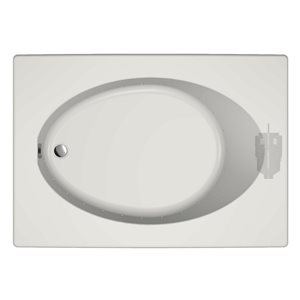 Jacuzzi Primo 60-in L x 42-in W x 21-in H Almond Acrylic Oval In Rectangle Drop-in Air Bath with Reversible Drain