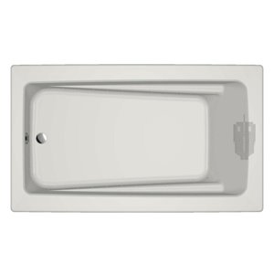 Jacuzzi Primo 72-in L x 42-in W x 21-in H Almond Acrylic Rectangular Drop-in Air Bath with Reversible Drain