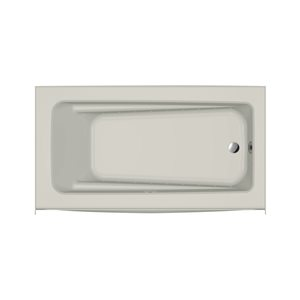 Jacuzzi Primo 60-in L x 32-in W x 19-in H Oyster Acrylic Rectangular Skirted Air Bath with Right-Hand Drain