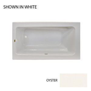 Jacuzzi Primo 60-in L x 32-in W x 19-in H Oyster Acrylic Rectangular Drop-in Air Bath with Reversible Drain