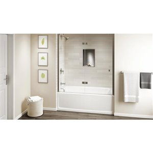 Jacuzzi Primo 60-in L x 32-in W x 19-in H Oyster Acrylic Rectangular Skirted Bathtub with Left-Hand Drain