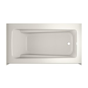 Jacuzzi Primo 60-in L x 32-in W x 19-in H Oyster Acrylic Rectangular Skirted Bathtub with Right-Hand Drain