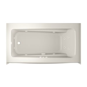 Jacuzzi Primo 60-in L x 32-in W x 19-in H Oyster Acrylic Rectangular Whirlpool Tub with Left-Hand Drain