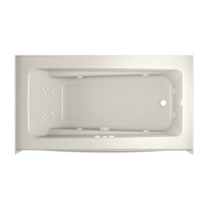 Jacuzzi Primo 60-in L x 32-in W x 19-in H  Oyster Acrylic Rectangular Whirlpool Tub with Right-Hand Drain