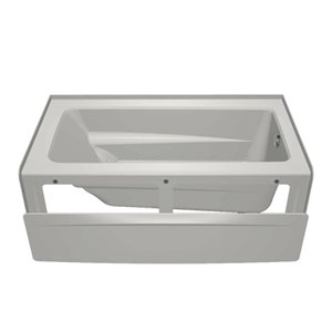 Jacuzzi Primo 60-in L x 32-in W x 19-in H White Acrylic Rectangular Skirted Air Bath with Right-Hand Drain