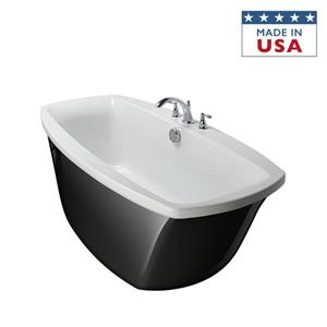 Jacuzzi Finestra 60-in L x 36-in W x 38.5-in H Oyster Acrylic Rectangular Walk-In Air Bath with Center Drain