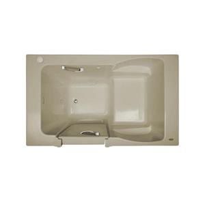 Jacuzzi Primo 60-in L x 30-in W x 20.25-in H Oyster Acrylic Rectangular Whirlpool Tub with Left-Hand Drain