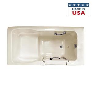 Jacuzzi Finestra 60-in L x 30-in W x 38.5-in H Oyster Acrylic Rectangular Walk-In Air Bath with Right-Hand Drain