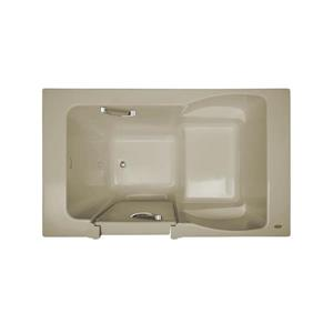 Jacuzzi Finestra 60-in L x 30-in W x 38.5-in H Oyster Acrylic Rectangular Walk-in Bathtub with Right-Hand Drain