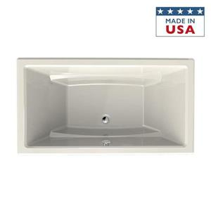 Jacuzzi Primo 66-in L x 36-in W x 23-in H White Acrylic Rectangular Drop-in Bathtub with Center Drain