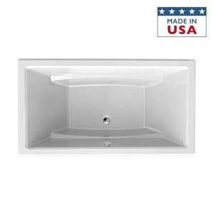 Jacuzzi Primo 66-in L x 36-in W x 23-in H Almond Acrylic Rectangular Drop-in Bathtub with Center Drain