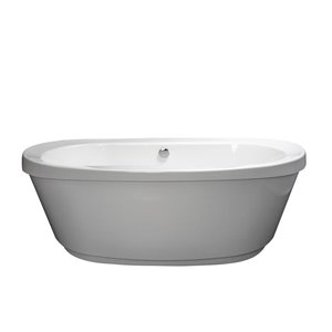 Jacuzzi Primo 68-in L x 36-in W x 24-in H White Acrylic Rectangular Freestanding Bathtub with Reversible Drain