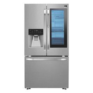 LG Studio LG Studio 23.5-cu ft 3-Door Counter-Depth French Door Refrigerator LSFXC2496S
