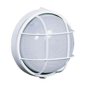 Bulkhead 10-in White Outdoor Sconce