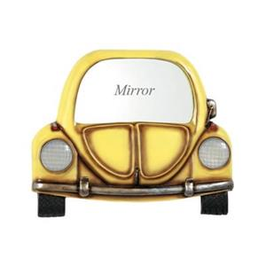 RAM Game Room Products Yellow Car With Mirror Pub Sign Game Room