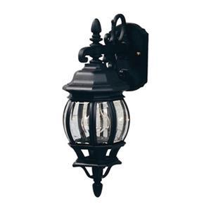 Artcraft Lighting 17.50-in Black Classico Outdoor Sconce