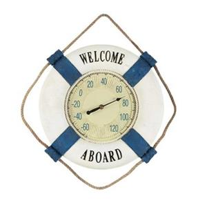 RAM Game Room Products 15-in White Welcome Aboard Thermometer