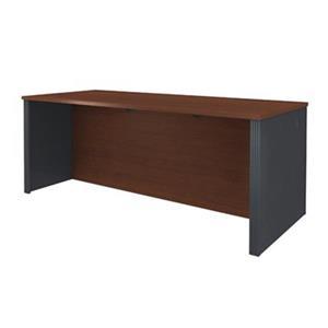 Bestar Prestige 30.33-in x 71.10-in Bordeaux Graphite Executive Desk