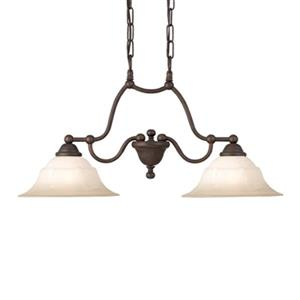 Classic Lighting Providence Multi-Light 2-Light Pendant Kitchen Island Light
