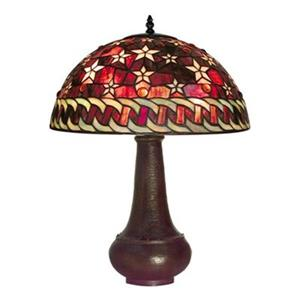 Warehouse of Tiffany Tiffany Style Red Star Table Lamp
