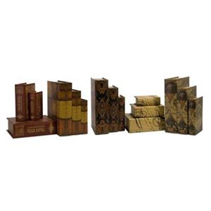IMAX Worlwide Convenience Decorative Book Box (Set of 15)