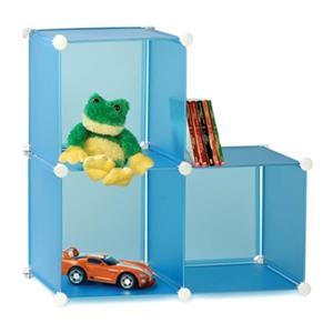 Honey Can Do 14-in x 14-in Blue Kids Cubes Storage Bin (Set of 3)