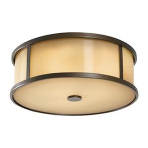 Feiss Dakota Bronze 3-Light Outdoor Flush Mount Light