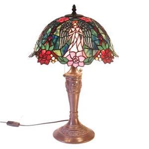 Warehouse of Tiffany 2-Light Style Angel Table Lamp