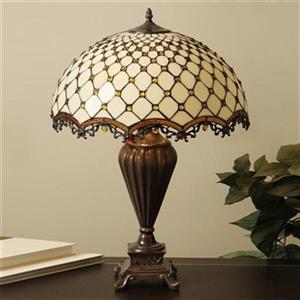 Warehouse of Tiffany Tiffany Style Jewel Roman Table Lamp