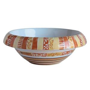 WS Bath Collections Décor 16.10-in x 16.10-in Multicolour Ceramic Round Hand Painted Vessel Sink