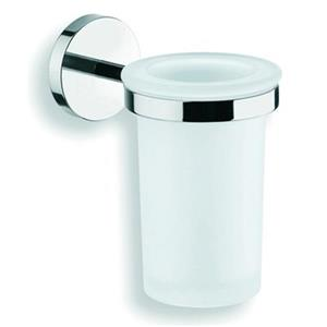 WS Bath Collections Duemila Wall Mounted Polished Chrome Toothbrush Holder