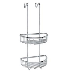 WS Bath Collections Filo 9.8-in Polished Chrome Basket Shower Caddy