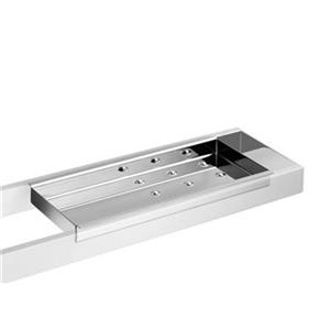 WS Bath Collections Skuara 52803.29 Stainless Steel Soap Dis