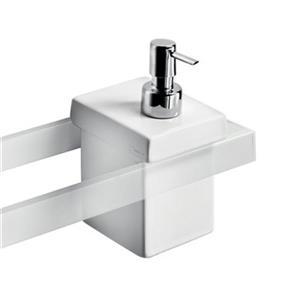 WS Bath Collections Skuara Ceramic White Soap Dispenser