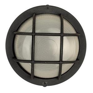Amlite Lighting 4.25-in Black with Frosted GlassOutdoor Fixture