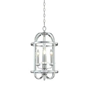 Eurofase Senze Collection 12-in x 24-in Silver 3-Light Foyer Light
