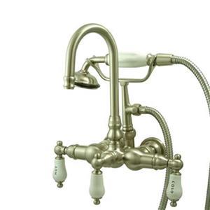Elements of Design Hot Springs Satin Nickel Vintage Clawfoot Tub and Shower Filler